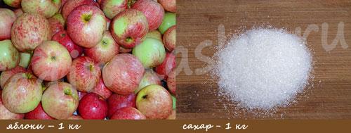 Яблочное повидло. Ингредиенты.
