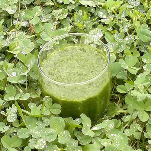 Зеленый банановый смузи