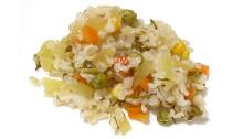 Бурый рис с овощами.