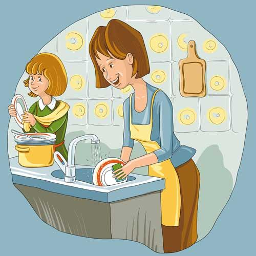 Как отмыть жирную посуду без химических средств Washing dishes
