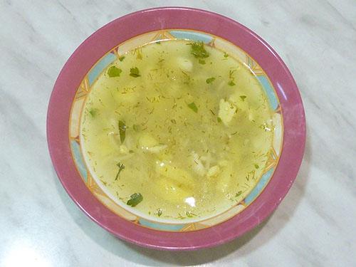 Суп с картофелем, яйцом и вермишелью