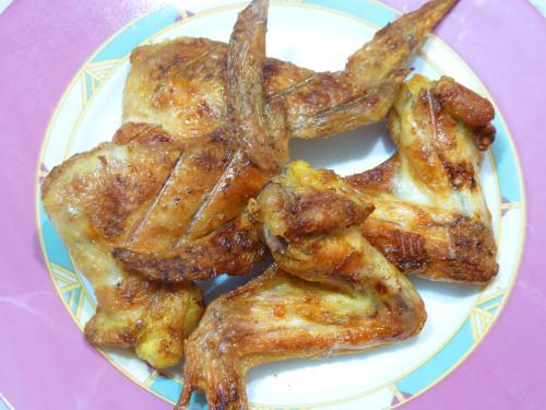 Куриные крылышки зареченные на решетке